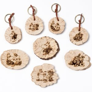 Other Moomin products (key rings, magnets, necklaces, matchboxes, wooden blocks, screen cleaners)