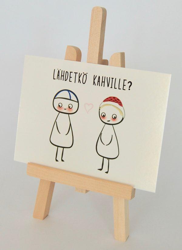 kortti kuvatelineessä