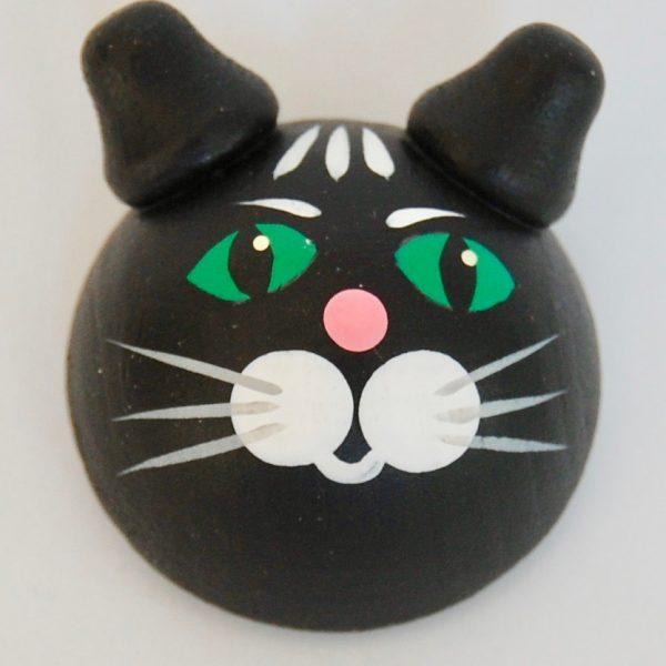 kokopuinen kolmiulotteinen kissajääkaappimagneetti