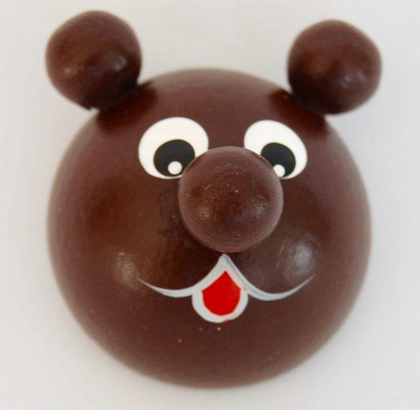 kokopuinen jääkaappimagneetti ruskea karhu